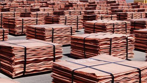 Inventarios de cobre registran menor nivel desde 2008