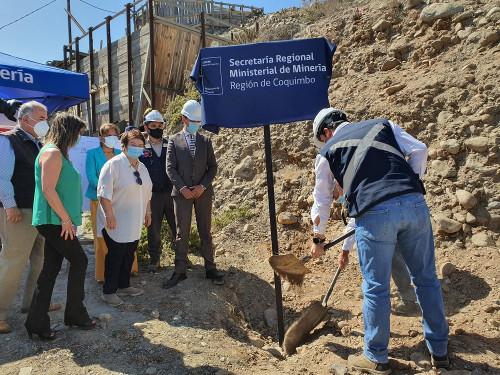 Ministro (S) de minería da el vamos a futura planta de procesamiento de oro en La Higuera