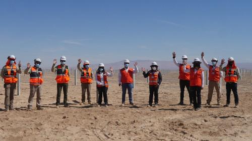 Seremi de Energía  de Antofagasta conoce en terreno avances de los proyectos renovables desarrollados por Mainstream en la región