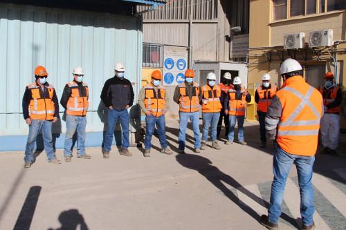 Equipo de Movimiento de Tierra de Chuquicamata es reconocido por mantenimiento basado en la seguridad y con buenos resultados