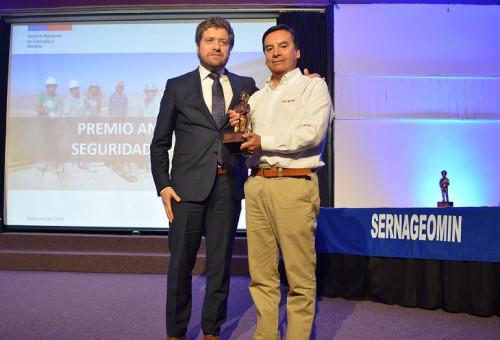 ENAMI recibe premio anual de Seguridad Minera