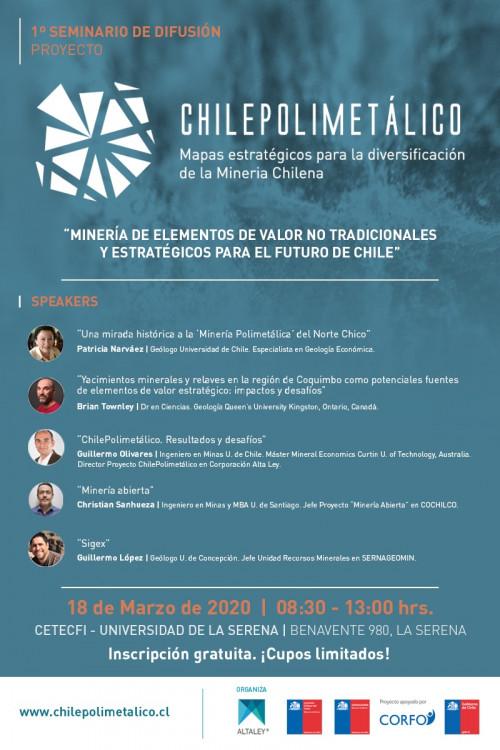 Chile Polimetálico: Seminario busca impulsar el desarrollo de una minería más diversificada