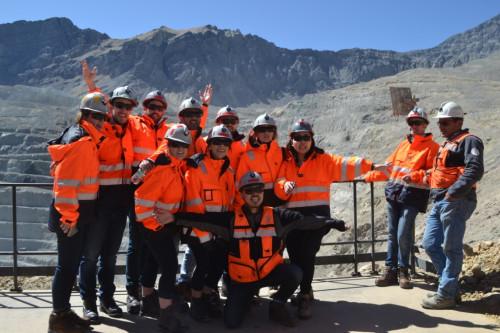 Estudiantes de la Universidad de British Columbia visitan División Andina de Codelco