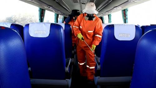 Codelco refuerza la sanitización de buses, equipos y espacios comunes