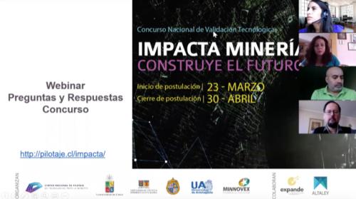 Un centenar de emprendedores tecnológicos participan en webinar de concurso de innovación minera