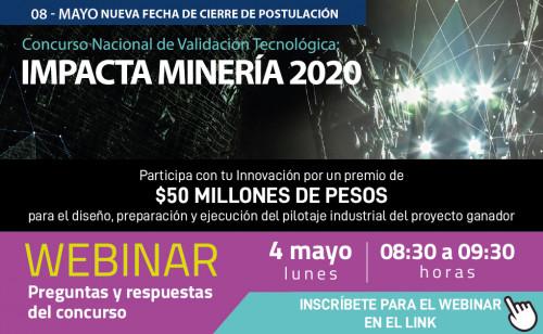 Concurso Impacta Minería amplía plazo de postulación al 8 de mayo