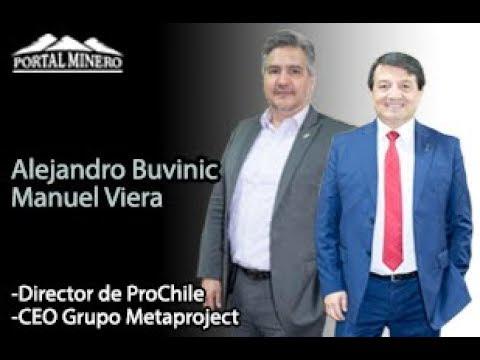 Alejandro Buvinic, Director de ProChile y Manuel Viera, CEO Grupo Metaproject