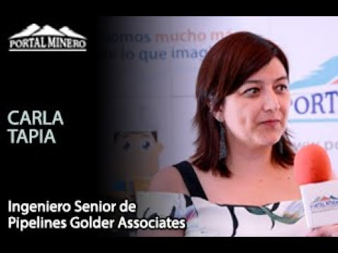Carla Tapia, Ingeniero Senior de Pipelines Golder Associates