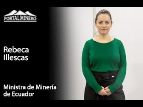 Ministra de Minería de Ecuador, Rebeca Illescas